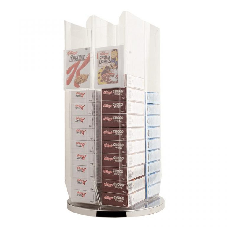 Rotating Cereal Pack Dispenser