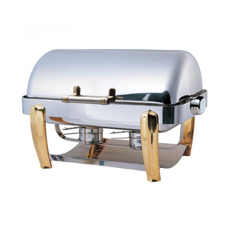 """odin"" Oblong ""slow Closing"" Roll Top Chafing Dish"
